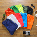 Новая мода летние Мужчины и женщины Твердые Шорты Конфеты цветов тонкий Пляж Шорты Jogger повседневная ежедневные шорты Size5XL