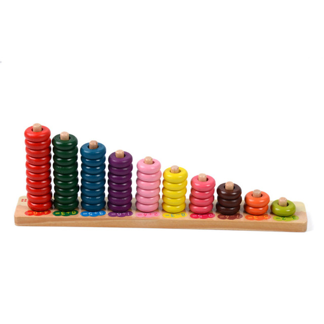 Multicolor Wooden Math Learning Beads