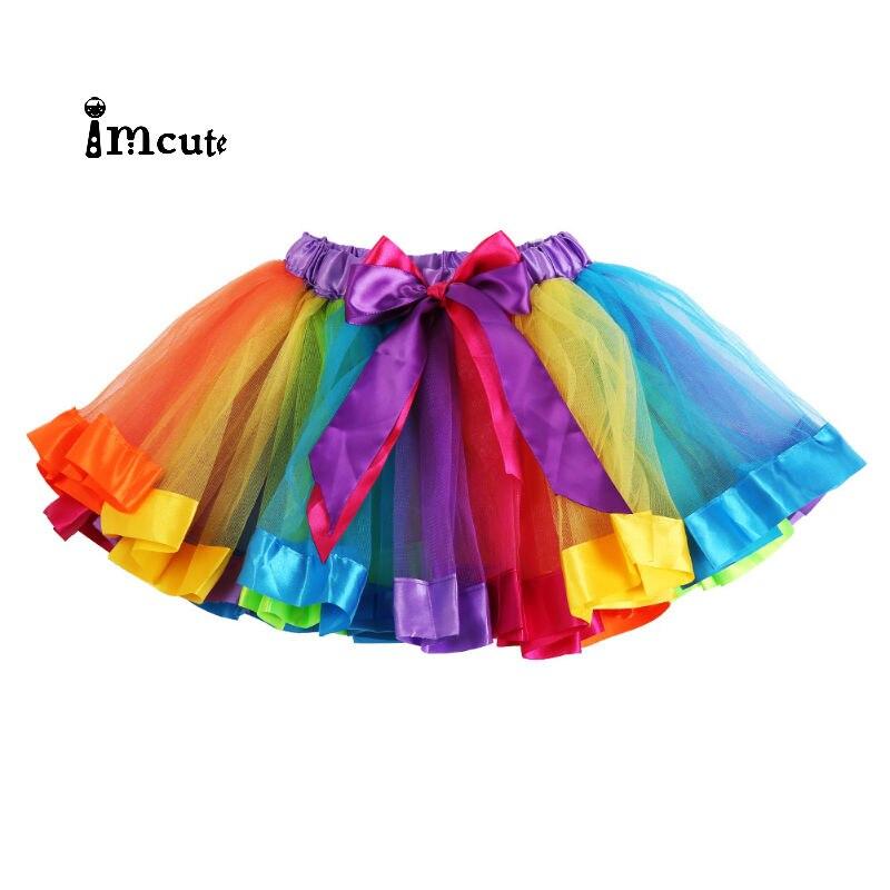 *NEW** GIRLS CHILDRENS RAINBOW TUTU SKIRT BALLET PARTY DANCE FANCY DRESS SKIRT