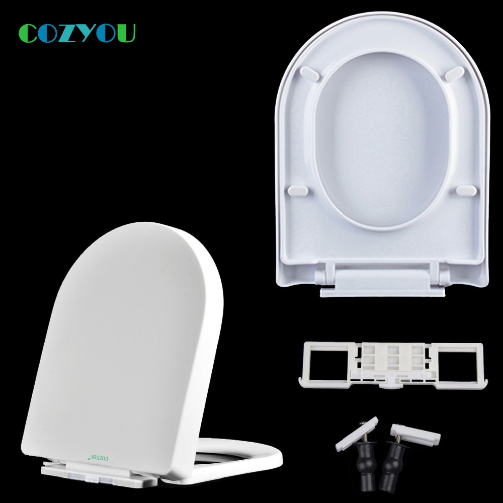 Cozyou U Type Pp Toilet Seat Quick Release Slow Close Easy