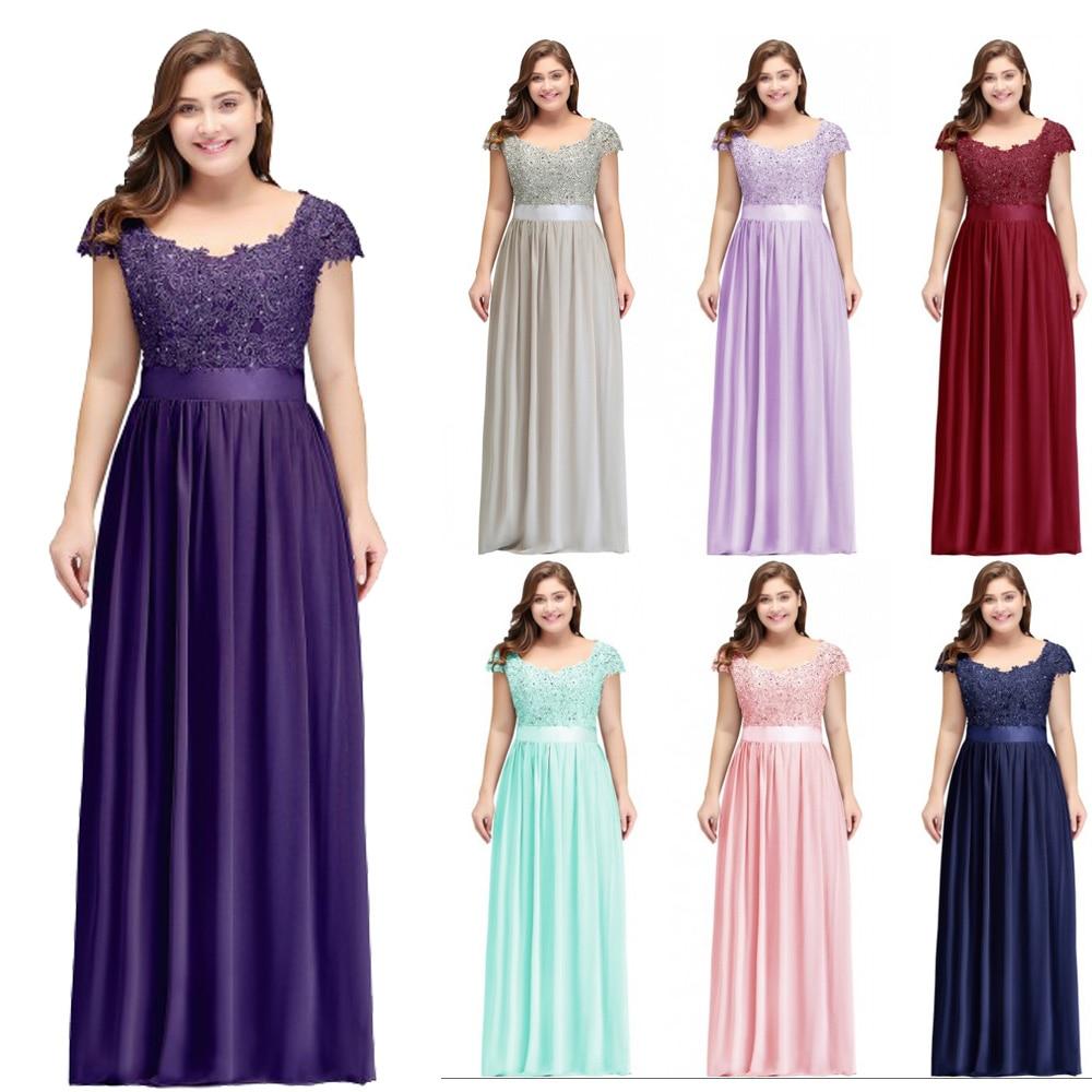 Robe Demoiselle D'honneur Long Chiffon Bridesmaid Dress Plus Size A Line Illushion Back Women Wedding Formal Party Gowns 2019