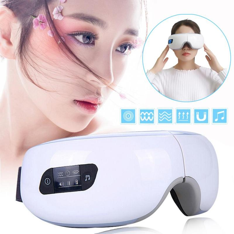 Infrared Digital Eye Massager Pain Relax Myopia Wireless charging SPA Air Vibration Magnetic heating Electric massage device Z3 wireless usb intelligent air pressure eye massager far infrared heating functions eye relax massager glasses myopia prevention