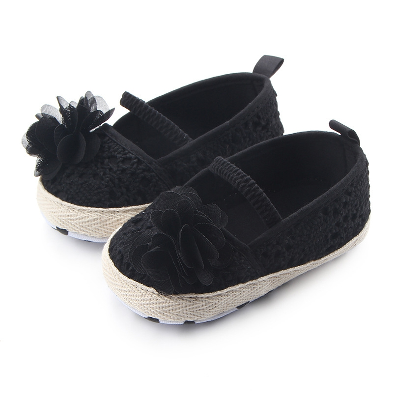 Baby Girl Shoes Summer Hollow Knit Soft Soled Baby Walking Ballet Shoes