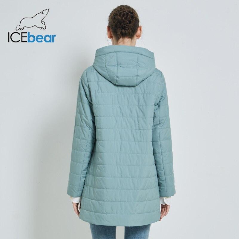 ICEbear 2019 جديد سترة نسائية الخريف عارضة امرأة مقنعين سترة جودة عالية الإناث معطف GWC19055I-في سترات فرائية مقلنسة من ملابس نسائية على  مجموعة 3