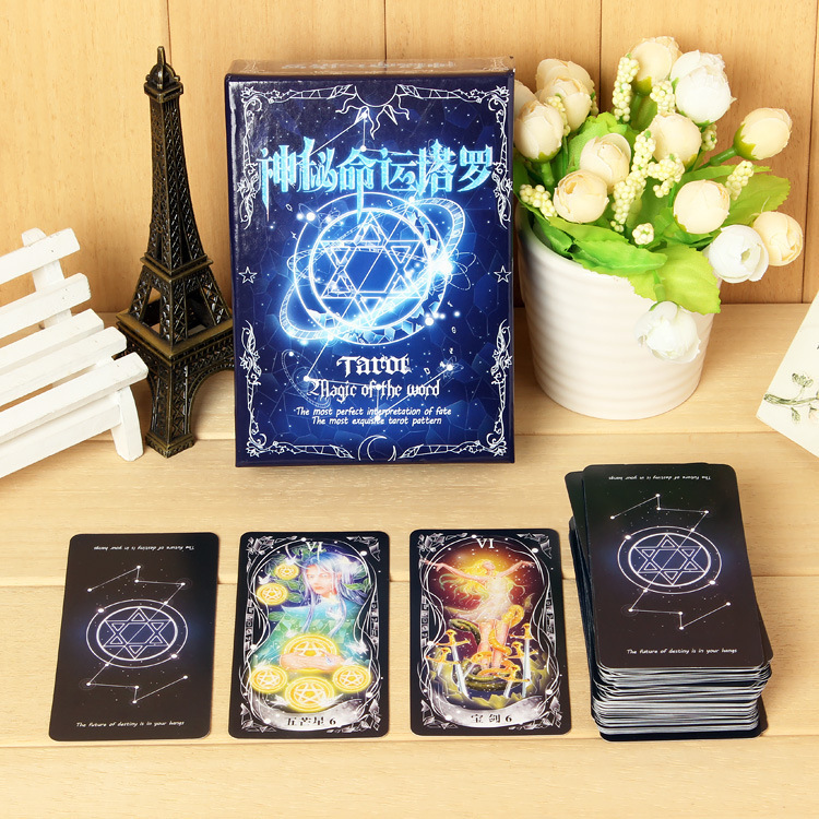 US $7 29 27% OFF|2019 New tarot Magic of the world tarot Divination Love  Destiny Entertainment Tarot Party Games Board Games-in Board Games from