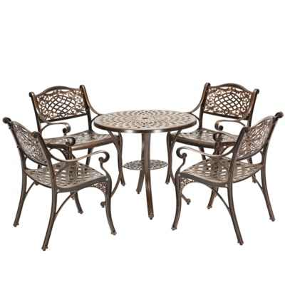 наружные столы и стулья из литого алюминия садовые