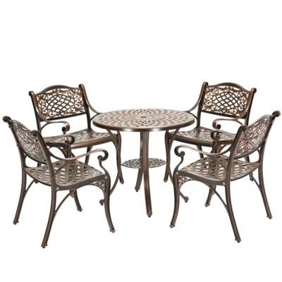 En plein air tables et chaises de jardin en fonte d\'aluminium balcon ...
