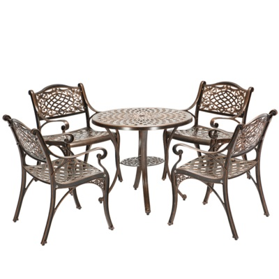 Outdoor tables and chairs cast aluminum garden balcony tables and chairs indoor leisure tables and chair european leisure tables and chairs fashion leisure sofa chair small coffee table beauty salon to discuss the single chair 3pcs