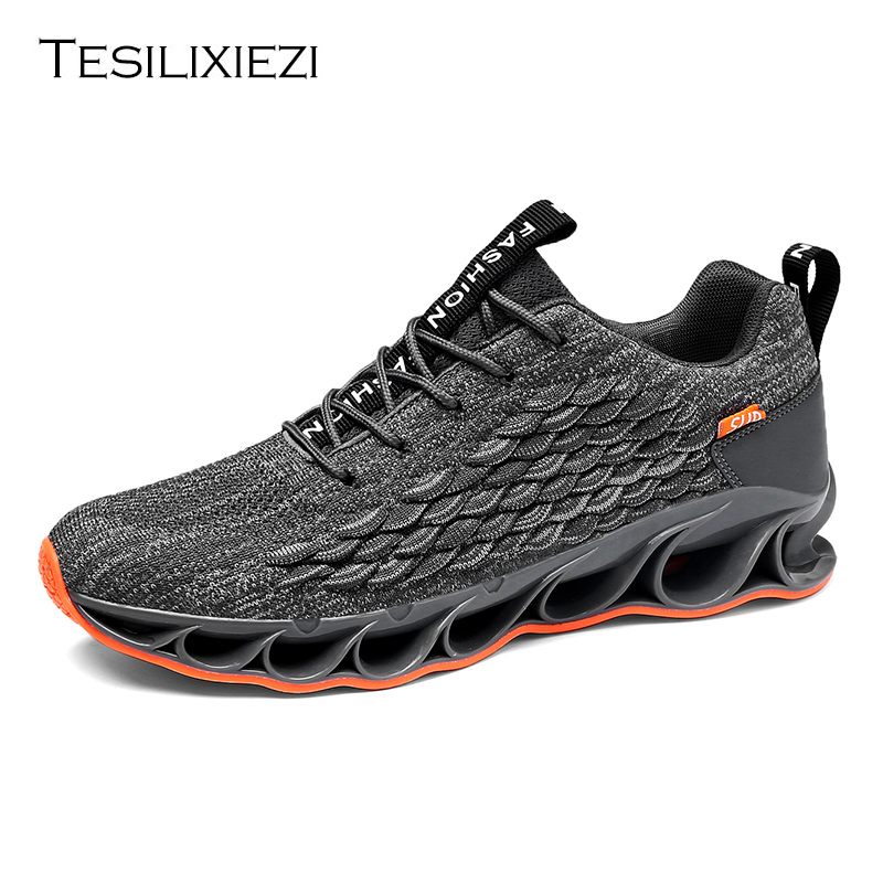 Sneakers Men Running Shoes Lace up Athletic Breathable Shoes Men's Running Shoes