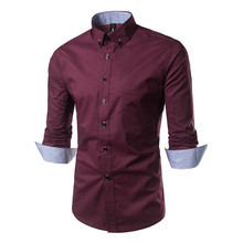 Новая коллекция модных осенних свитеров Для мужчин одежда Slim Fit Для мужчин рубашка с длинными рукавами Для мужчин клетчатая хлопковая Повседневное Для мужчин рубашка социальных размера плюс