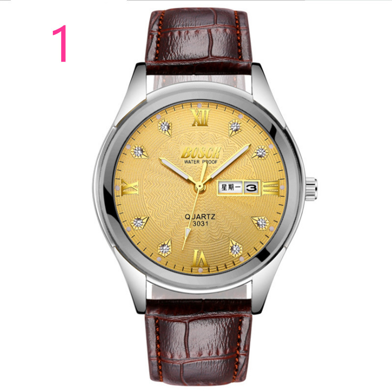 men New Fashion Watch Leather Band Concise Casual Luxury Business Wristwatch71