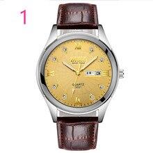 Для Мужчин Новая мода часы кожаный ремешок в сдержанном стиле повседневное Роскошные бизнес Wristwatch71