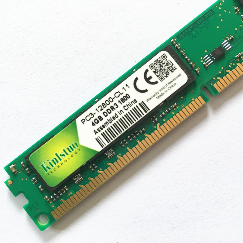 Kinlstuo Brand New sealed <font><b>DDR3</b></font> <font><b>1066MHz</b></font>/1333MHz/1600MHZ 8GB/<font><b>4GB</b></font>/2GB/1GB Desktop <font><b>RAMs</b></font> hight quality Free shipping! image