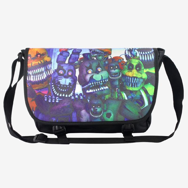 c1c7d6e7d32 Five Nights at Freddy s Satchel Shoulder School Bag Game Nylon Messenger  Handbag