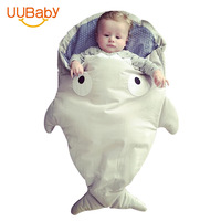 Baby Sleeping Bag Autumn Winter Baby Cart Bag Wrapped In Cotton Swaddling By Young Children Warm Shark Anti kick Sleepsack