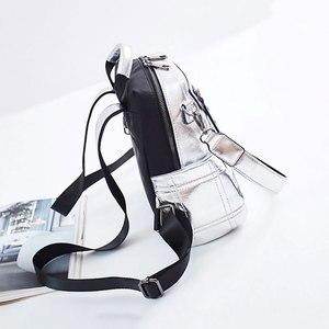 Image 5 - NIGEDU Glitter Zaino sacchetto di Spalla Delle Donne Multifunzione Zaini Per Le Ragazze Adolescenti Zainetto Zaino Femminile Borsa Da Viaggio In Argento