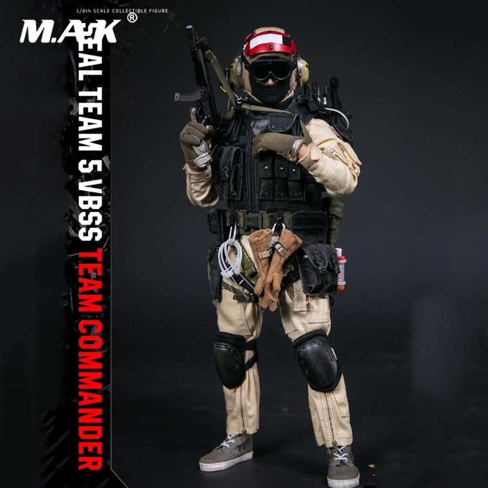 DAM 78046 1/6 Seal 5 Team-VBSS Team Commander Red Helemt Full Set Solider Action Figure for Collection Gift