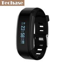 Techase спортивный смарт-браслет монитор сердечного ритма фитнес-трекер Водонепроницаемый SmartBand Браслет Шагомер фитнес-часы Saat