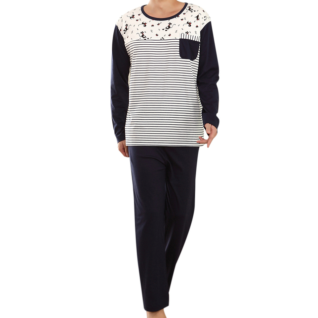 Hot new marca mens sexy sleepwear pijama masculino cat impressão pullover manga longa pijamas puxar homme homens inverno roupas l3