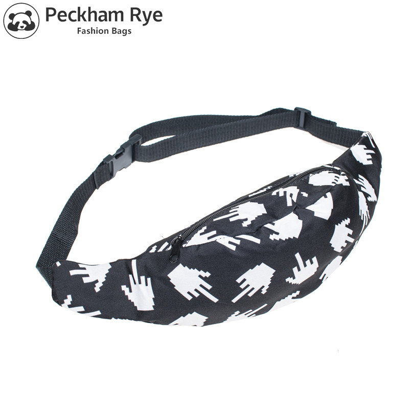 27% OFF Full Bandana Black 3d Printing Fashion Waist Bag Women Fanny Packs Belt Bum Bag Waist Packs For Men