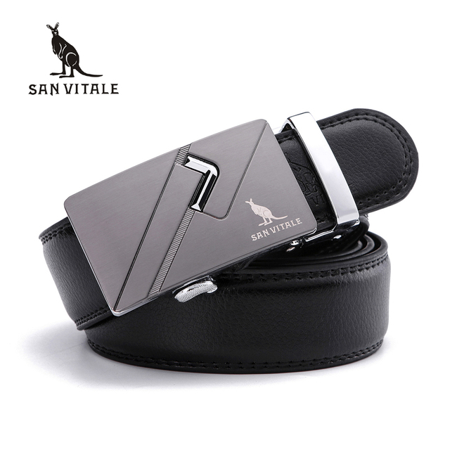 Men's Belts for Business man Strap Real Leather automatic ratchetable Good quality New Designer Buckles gifts as Valentine's Day