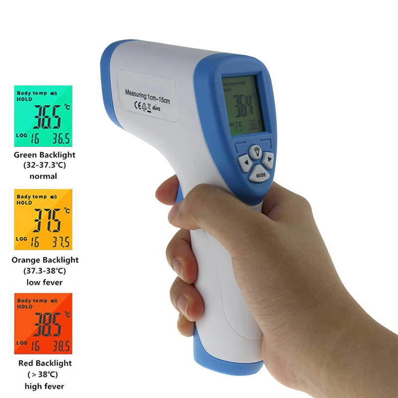 Digital Infrared Thermometer IR Baby Body Surface Laser Pyrometer Non-contact Forehead Gun Temperature Meter with Backlight