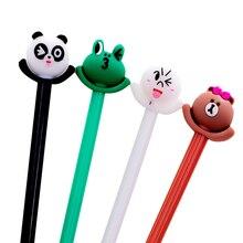 1pcs/lot Cute Winking Frog Bear Gel Pen 0.5 Black Student Gel Pen 4 Random For School Office Writing недорого