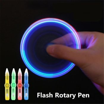 LED Spinning Pen Ball Pen Fidget Spinner Hand Top Glow In Dark Light EDC Stress Relief Toys Kids Toy Gift School Supplies wholesale price relieves glow in the dark fidget spinner hand spinner and fidget toy marble for everyone