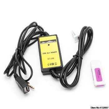 Аудиомагнитолы Автомобильные CD адаптер Changer MP3 интерфейс AUX SD USB кабель для передачи данных 2x6Pin Toyota Camry Corolla Matrix 828 продвижение