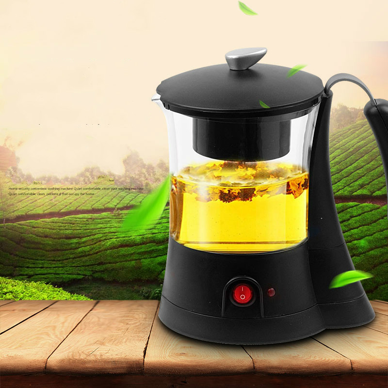 Black tea brewed machine glass automatic electric heat preservation and cooking pu 'er teapot/electric kettle black tea brewed machine glass automatic steam boiling pu er flower teapot insulation electric kettle