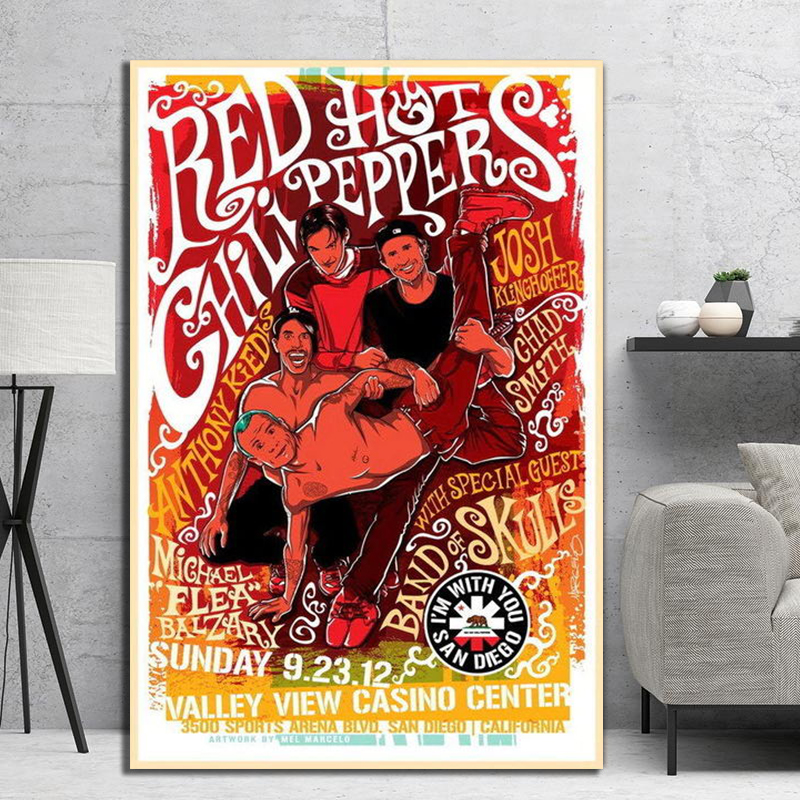 Red Hot Chili Peppers Californica Art Fabric Poster Wall Decor HD Printed