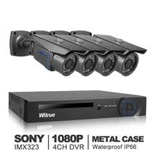 4CH Videoüberwachungssystem 1080 P AHD-H DVR 2.0MP Sony IMX323 AHD Überwachungskamera Im Freien Wasserdichte Home Security System