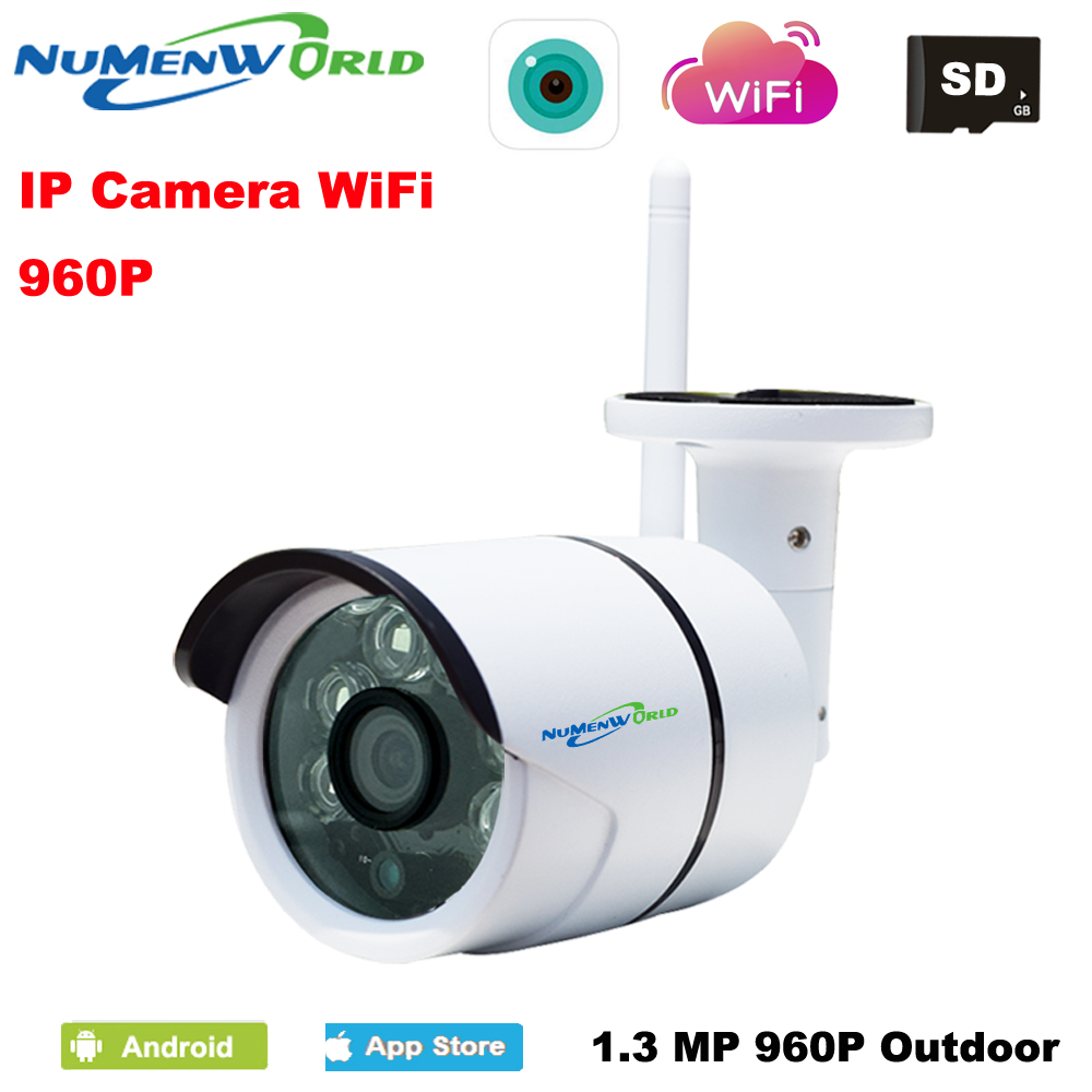 2016 Wifi Wireless IR Network IP camera 960P HD Outdoor Video surveillance security camera SD Card slot 1.3MP Megapixel image