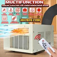 Newest 900W 3072 BTU Portable Heater Air Conditioner Window Air Conditioner Cooling Heating Cold/Heat Dehumidification 220V