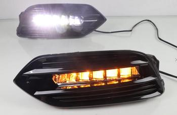 1set car bumper headlight for Honda HRV HR-V daytime light vezel 2018 2019y car accessories LED DRL fog for HRV headlamp