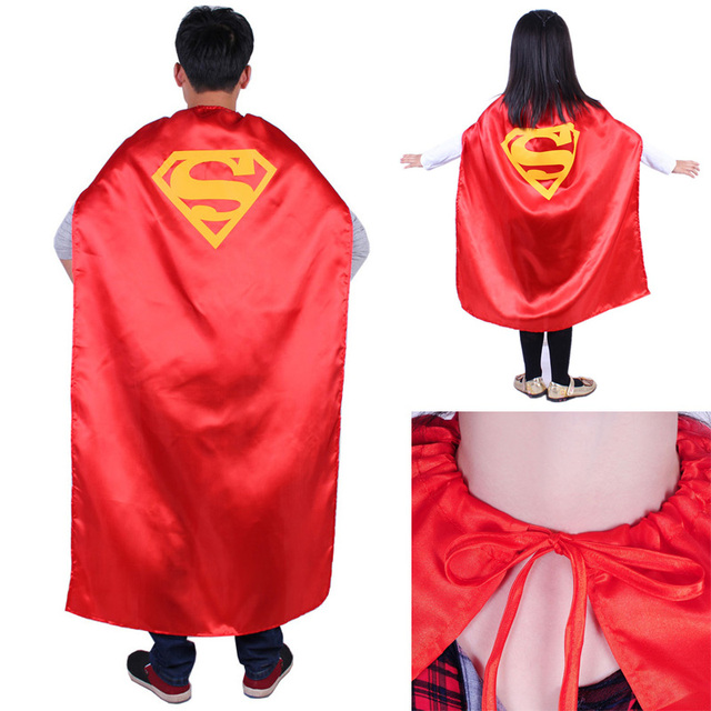 Superman Superhero Halloween Costume Para Adultos ou Crianças Superhero Capes Manto Vermelho