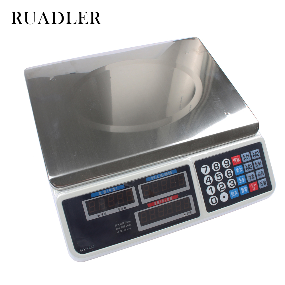 New 30kg electronic pricing scales electronic scales weighing scales of fruit pricing