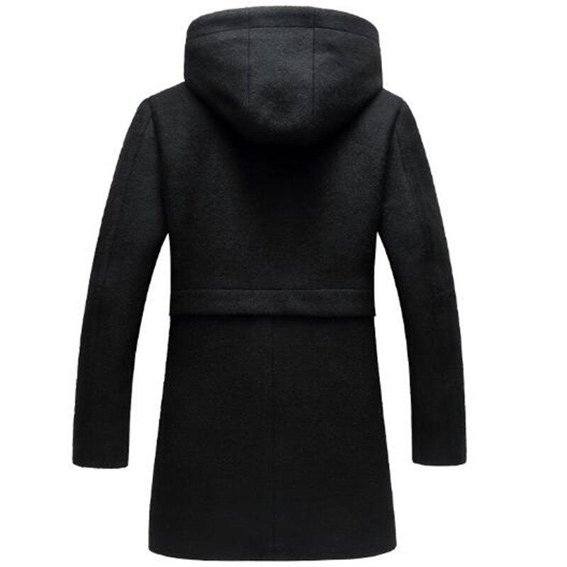 Ynzzu outono inverno jaqueta feminina sólida estilo longo grosso quente com capuz jaqueta feminina à prova de vento solto casaco outwears ao606 - 4
