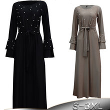 2019 Абая Дубайский мусульманский кафтан Турции для женщин бисером