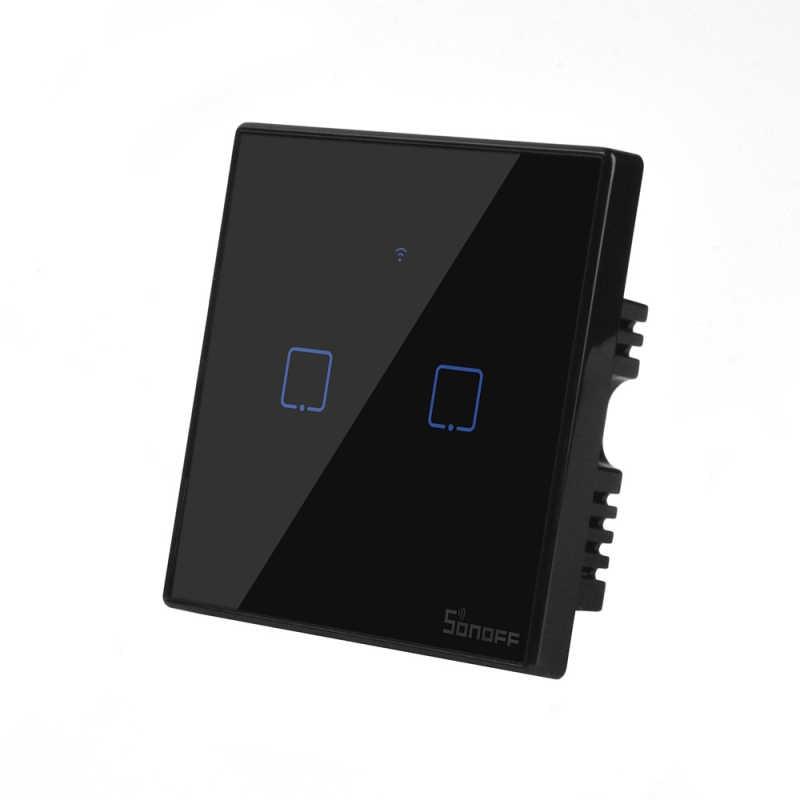 Itead Sonoff T3US 86 rozmiar 1/2/3 gang seria TX 433Mhz RF pilot zdalnego kontrolowane przełącznik Wifi z granicy współpracuje z Alexa Google domu