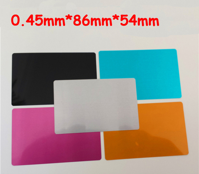 045mm 100pcs blank sublimation metal name card printing blank 045mm 100pcs blank sublimation metal name card printing blank business card sublimation ink transfer free reheart Gallery