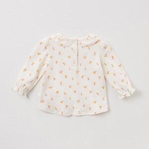 Image 2 - DBZ11143 1 dave bella primavera outono do bebê meninas floral bonito camisas infantil criança 100% algodão encabeça crianças roupas de alta qualidade