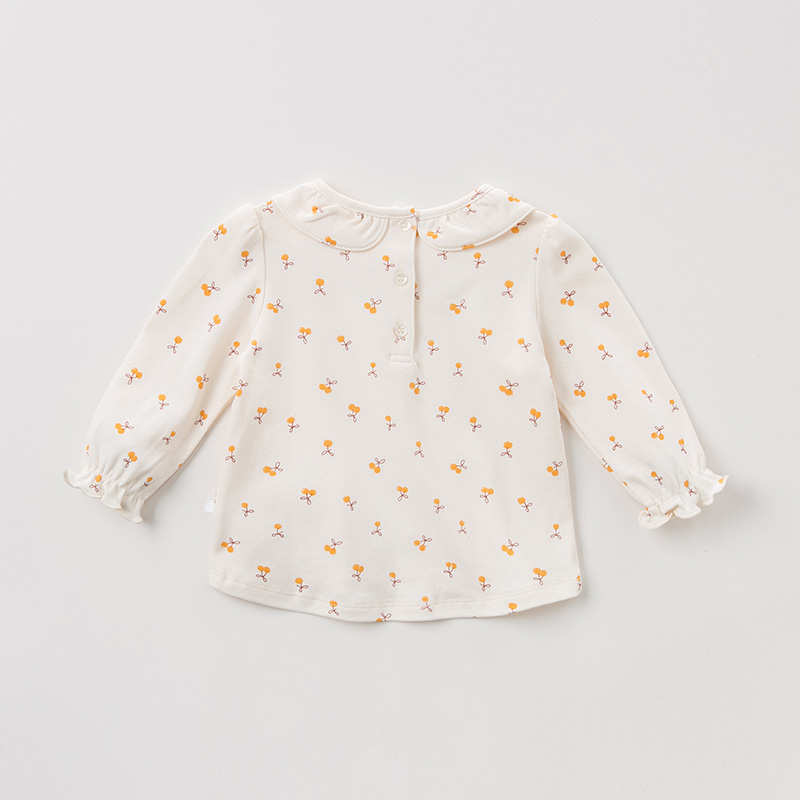 Image 2 - DBZ11143 1 dave bella spring autumn baby girls cute floral shirts infant toddler 100% cotton tops children high quality clothesBlouses & Shirts   -