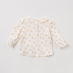 Image 2 - DBZ11143 1 dave bella spring autumn baby girls cute floral shirts infant toddler 100% cotton tops children high quality clothes