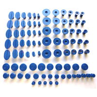 90pcs  Plastic Glue Pulling Tabs for Car Paintless Dent Repair Tools Pulling Tabs Car Dent Removal Body Repair Suction Caps Kit