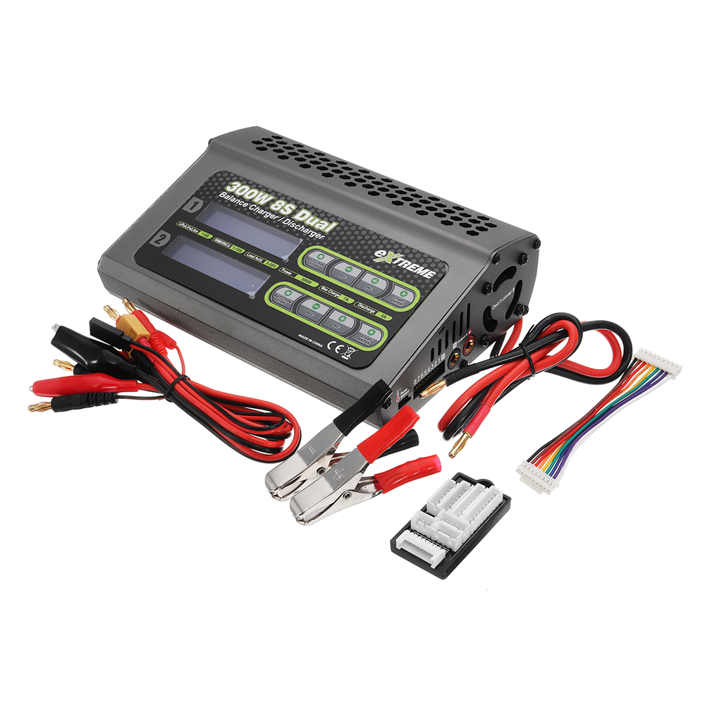 2018 New SKYRC Extreme 2X150W 7A Dual DC Balance Charger Discharger For 1-8S Battery NiCd/NiMH/Li-ion/Fe For RC Drone зарядное устройство skyrc d200 dual balance charger discharger 20a 300w