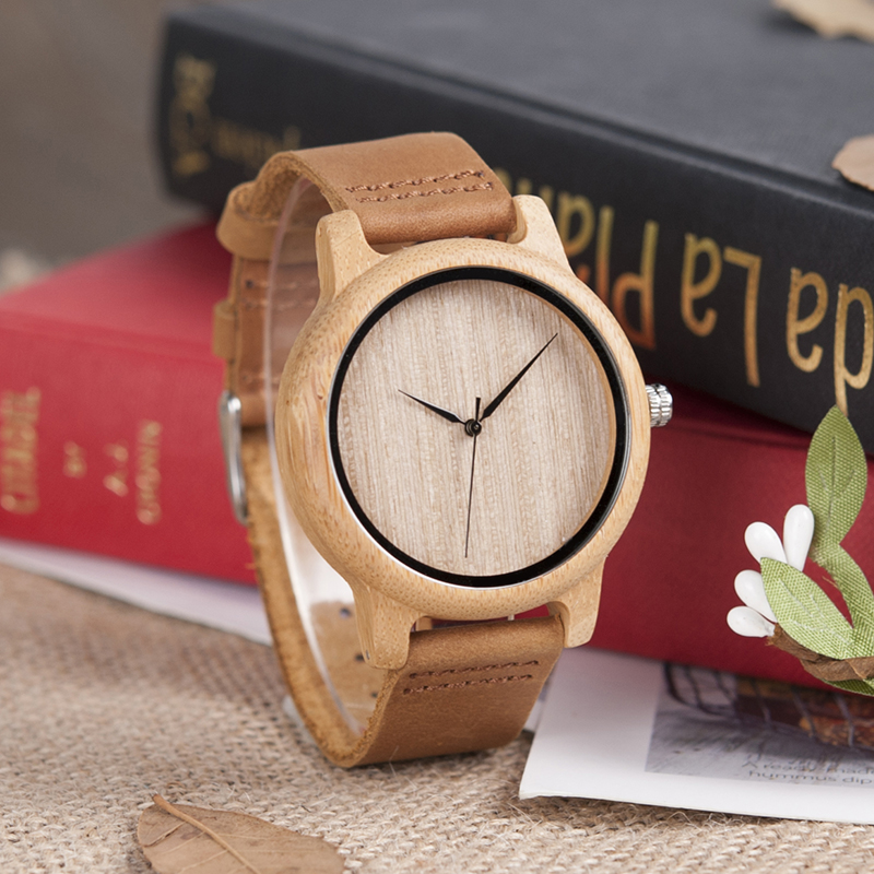 wooden bamboo wrist watch for men and women fashion style (2)