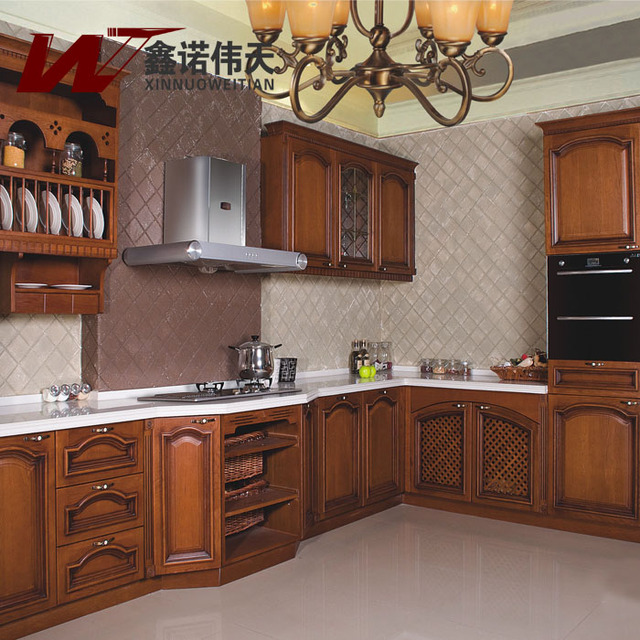 Top la mode sino coin cuisine classique globale armoire for Cuisine americaine rouge