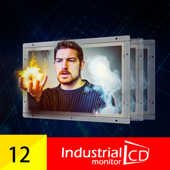 Metal Case 12.1 inch Industrial Resistive LCD Monitor Factory direct selling OEM/ODM 12.1 inch open frame industrial lcd monitor