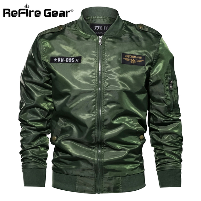 f98f563fc US $27.49 35% OFF|Refire Gear MA 1 US Army Air Force Pilot Military Jacket  Autumn Print Bomber Jacket Men Outerwear Clothing Flight Tactical Coats-in  ...